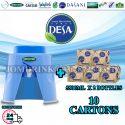 SPRITZER DISPENSER + PACKAGE OF 10 CARTON MINERAL WATER DESA 5.5L x 2 BOTTLES