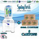 SPRINGFRESH DISPENSER + PACKAGE OF 5 CARTON MINERAL WATER SPRINGFRESH 6L x 2 BOTTLES