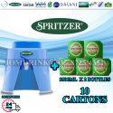 SPRITZER DISPENSER + PACKAGE OF 10 CARTON MINERAL WATER SPRITZER 9.5L x 2 BOTTLES