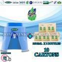 SPRITZER DISPENSER + PACKAGE OF 10 CARTON DRINKING WATER SUMMER 9.5L x 2 BOTTLES