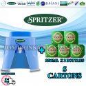 SPRITZER DISPENSER + PACKAGE OF 5 CARTON MINERAL WATER SPRITZER 9.5L x 2 BOTTLES