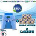 SPRITZER DISPENSER + PACKAGE OF 5 CARTON MINERAL WATER DESA 9.5L x 2 BOTTLES