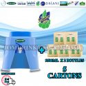 SPRITZER DISPENSER + PACKAGE OF 5 CARTON DRINKING WATER SUMMER 9.5L x 2 BOTTLES